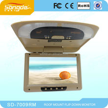 7 8 9 10 12 15 17 19 21.5 inch OEM car roof mount lcd monitor with tv