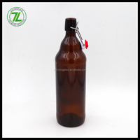 glass swing top bottle 1L for beer with flip top