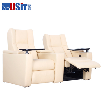USIT UV-832B luxury vip electric recliner sofa with tray for public cinema and home theatre