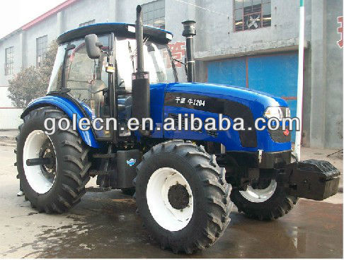 Large farm tractor, 120hp and 4wd farm wheel tractor in China