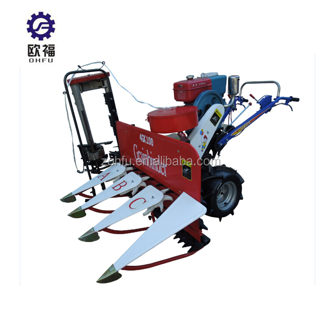 Half-Feeding Combine/Rice cutting machines/mini rice combine harvester prices