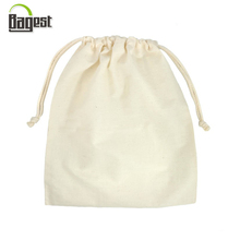 Customize printed AZO Free packaging bag 100% cotton drawstring pouch