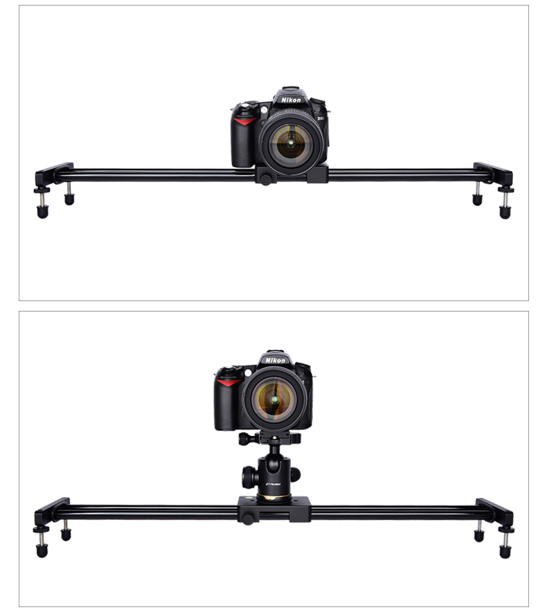 YELANGU 60cm Aluminum Gasket Camera Track Slider L60A Professional Filming Equipment Sliding Smoothly