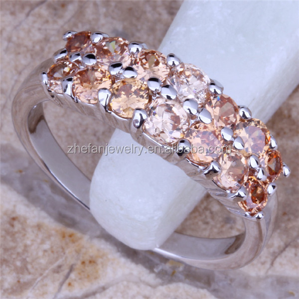 Two Line Crystal Diamond Engagement Ring China Wholesale Price Little Finger RING