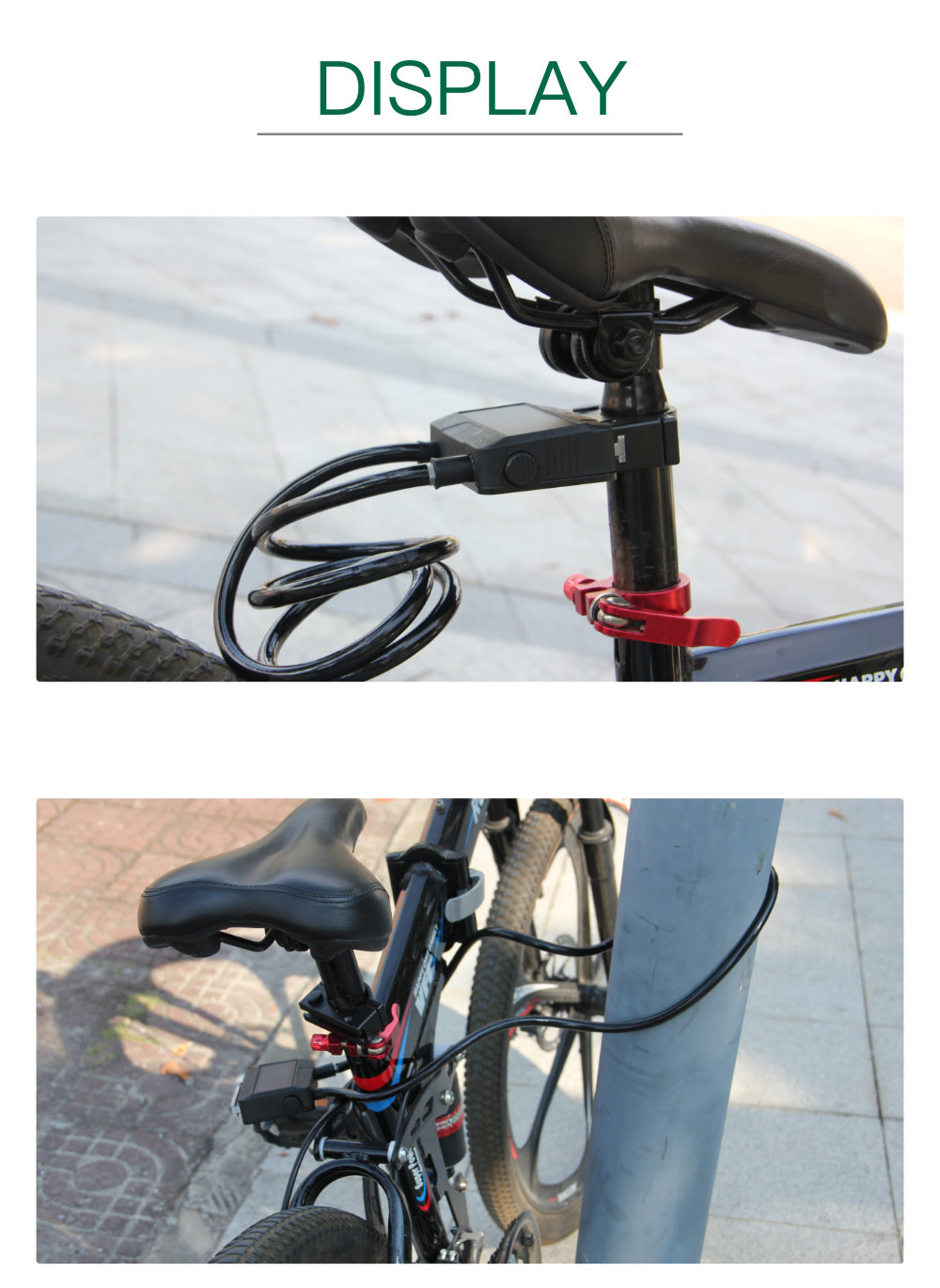 Chinese Suppliers Bike Lock Cable Bike Anti-Theft Cable Bicycle Chain Lock