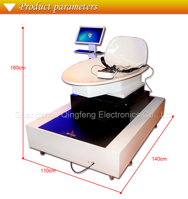 Qingfeng newest design coin operated virtual reality game machine sale for childrens vr slide