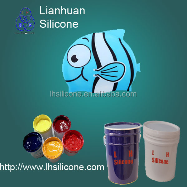 silicon screen printing ink for latex swimming cap