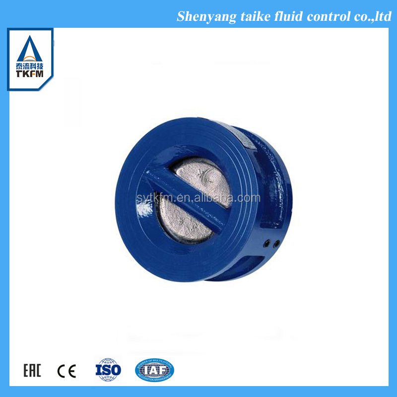 wafer flange type stainless steel plug check valve ss316