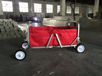 2017 popular collapsible aluminum beach utility folding wagon