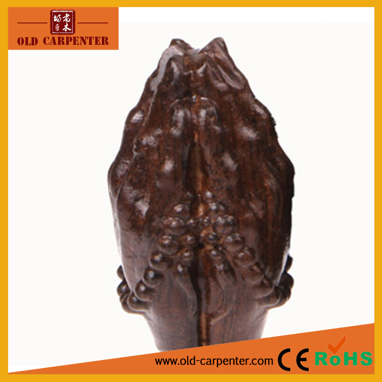 High quality Praying Hands of Buddha carving antique vintage wood craft