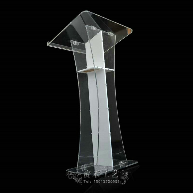GUIHEYUN white color church pulpit acrylic podiums lectern church pulpit with white cross
