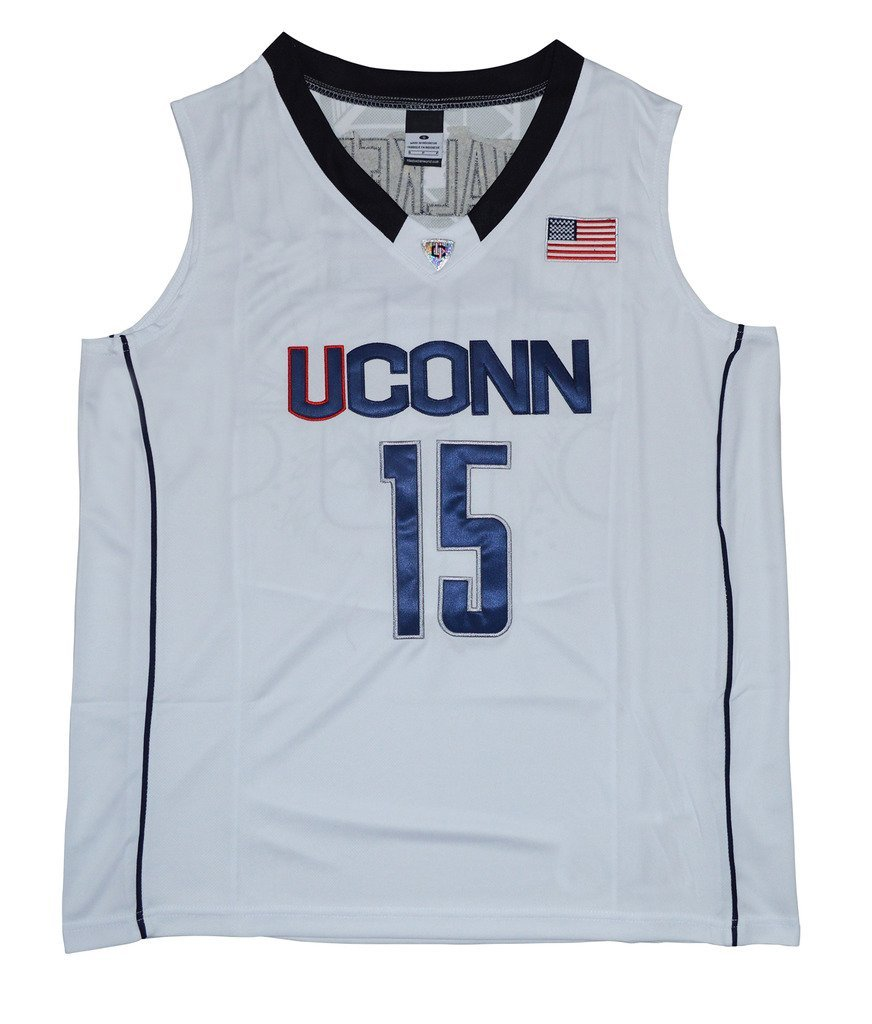 dc2e04908748 ... promo code get quotations crisgiord mens uconn huskies college  basketball no.15 kemba walker jersey