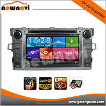 7 inch capacitive touch screen car dvd player for TOYOTA VERSO 2012- with bluetooth gps navigation