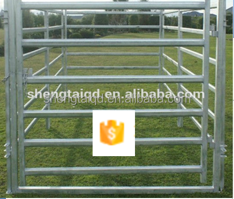 High Quality Low Price Hot-Dipped Galvanized 6 Rails Oval Tube Cattle Fence Panel Direct