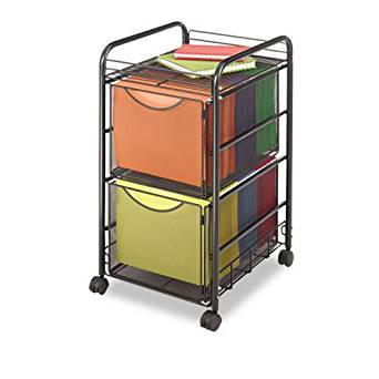 Safco : Onyx Mesh Mobile Double File, 15-1/2w x 17-1/4d x 27-1/4h, Black -:- Sold as 2 Packs of - 1 - / - Total of 2 Each