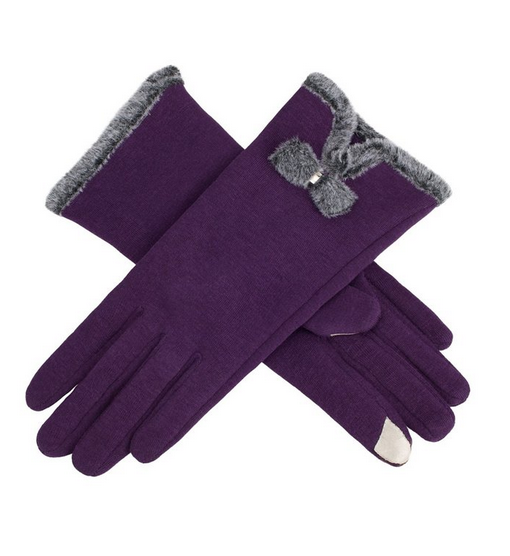 2016 women's mirco velvet gloves new screen touch thick warmer weather gloves
