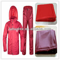 190t polyester waterproof taffeta fabric with pvc for raincoat