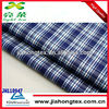 blue large check fabric with spandex shirt fabric