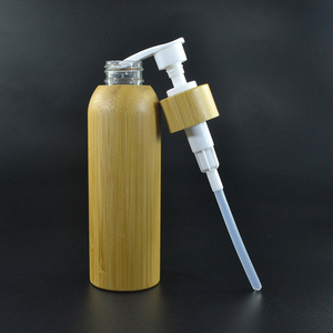hot sale 120ml bamboo wooden bottle with pump lid for body lotion