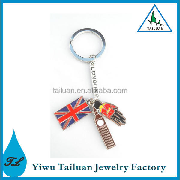 Funny London Big Ben Flag Jack Key Chain
