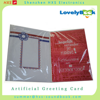 Factory Supply Aritificail Happy Birthday Song Greeting Cards With