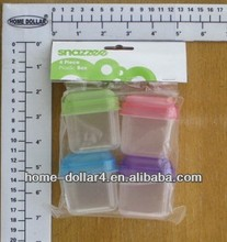 4pcs plastic PC reusable microwaveable mini containers