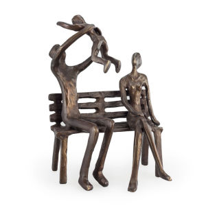 Indoor decoration happiness family bronze sculpture