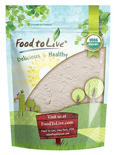 Organic Barley Flour by Food to Live (Stone Ground from Whole Hulled Barley, Non-GMO, Kosher, Raw, Vegan, Bulk, Great for Baking, Product of the USA) — 1 Pound