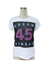 Ladies' T-shirts with lace print ,ladies top