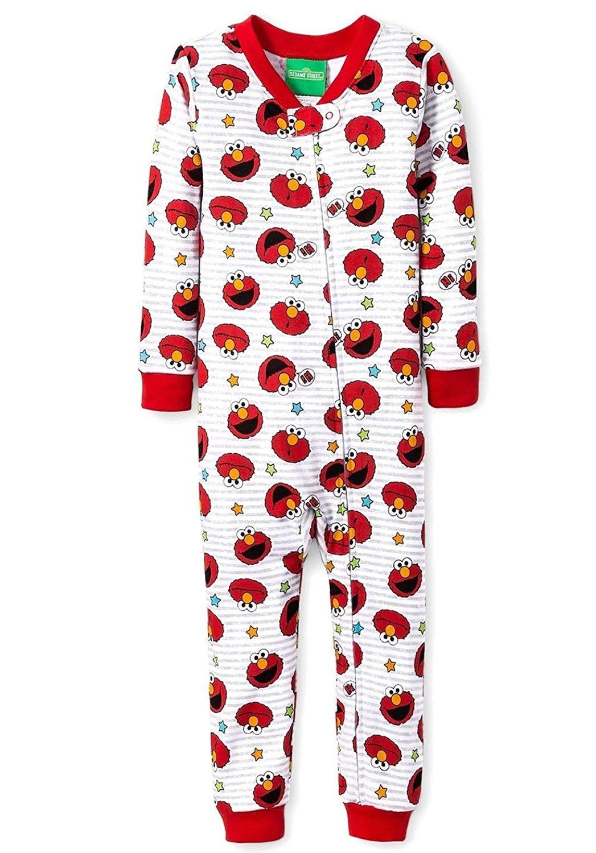 478f66ca4a Get Quotations · Sesame Street Toddler Boy s Elmo Striped Pajama Sleeper
