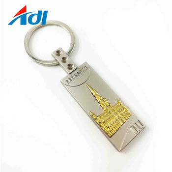Custom high quality 3D metal famous building keychains no minimum