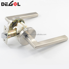 European design stainless steel bathroom door lock italy with handle