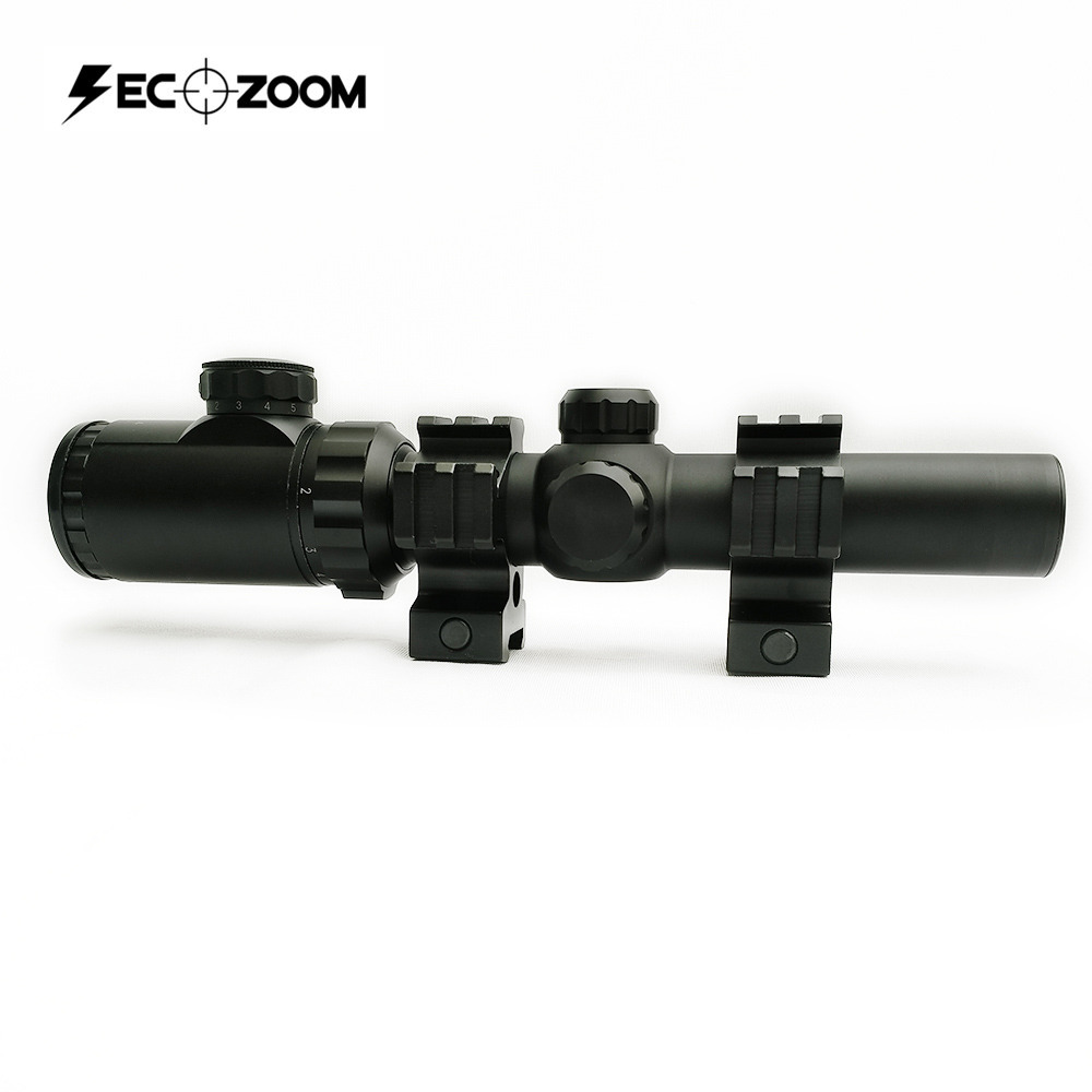 Secozoom Optics 1-6x24 IR Long Eye Relief Illuminated Tactical The Hunting Rifle Scope for Hunting Rifle and Game Hunting