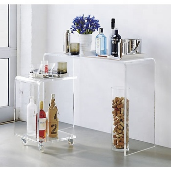 Chinese Modern Design Acrylic Foyer Console Table Luxury Console Table Factory Wholesale