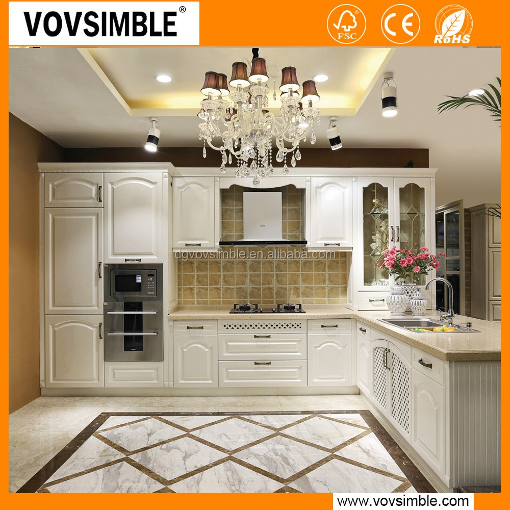 vovsimble china factory wholesale cheap solid wood kitchen