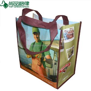 Printed Tnt Lamination Supermarket Shopping PP Non-Woven Zipper Carry Bag