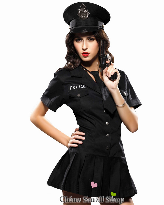 Get Quotations · Free Shipping Tot Quality Sexy ladyu0027s Halloween Cosplay Cop Costumes police Woman uniforms Sexy Party outfit  sc 1 st  Alibaba : cheap police costumes  - Germanpascual.Com