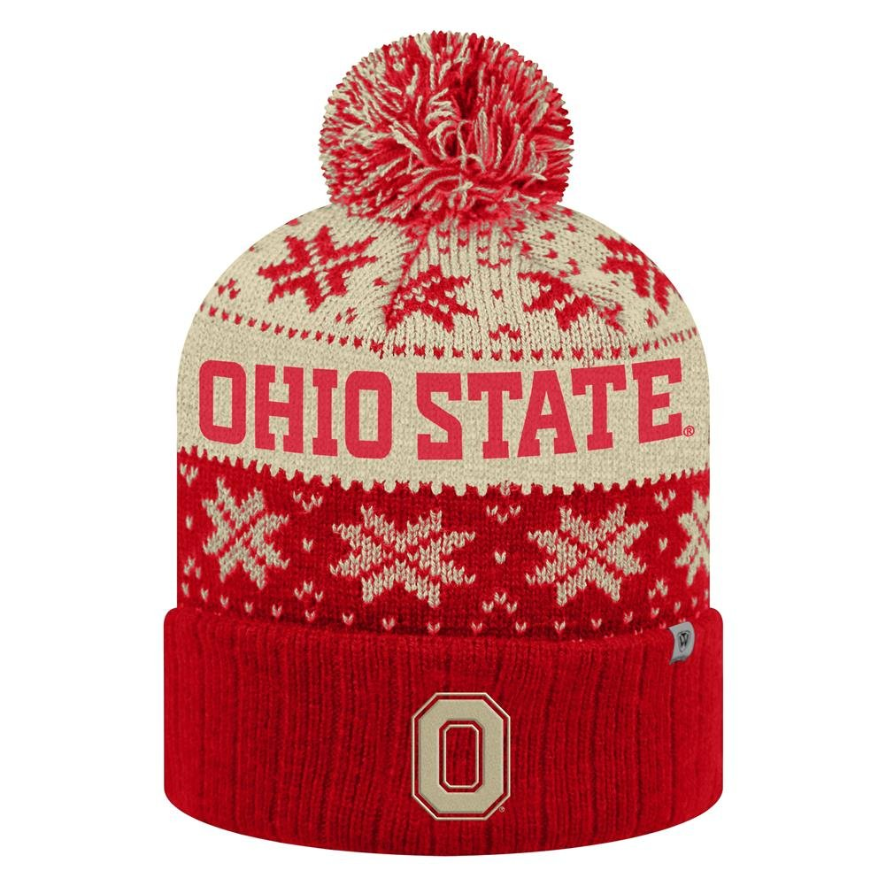 quality design a68d9 05a95 Get Quotations · Ohio State University Buckeyes Beanie Winter Hat Knit  Toboggan