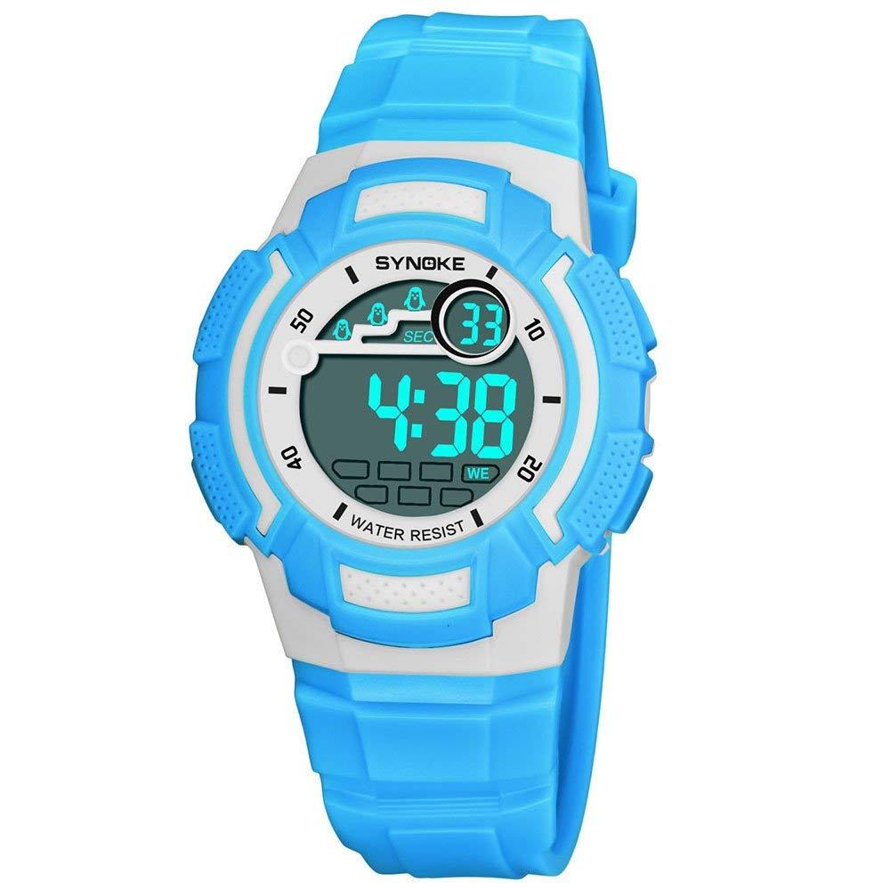 COOKI Kids Digital Sport Watch Boys Girls Outdoor Waterproof LED Watches Children Analog Quartz Wrist watch with Alarm for Child Boy Girls Gift Kids Watch
