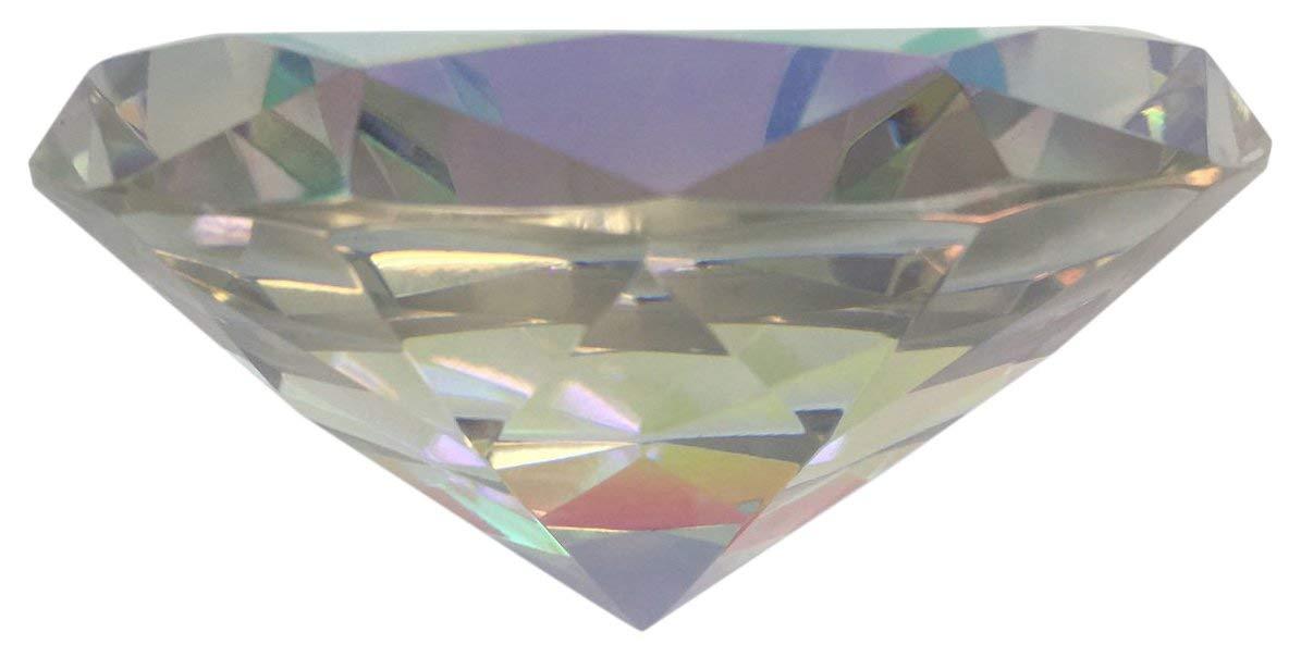 Hongville Fancy Crystal Glass Diamond Paperweight, Rainbow