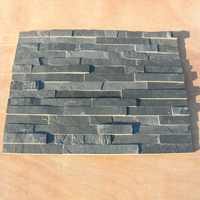 New Cheap China Wholesale Interior Exterior Decorative Ledge Raw Brick Rock Wall Panel Cladding Tile Natural Black Slate Stone