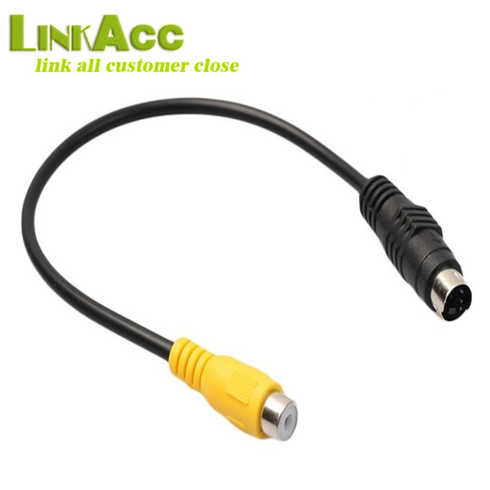 LKCL744 Mini DIN 4 Pin Male Plug To AV TV RCA Female Audio Video Cable