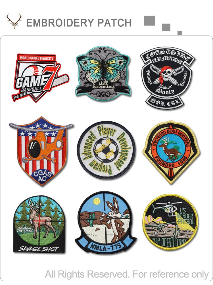 Direct factory custom logo embroidery fabric sport patches for clothing