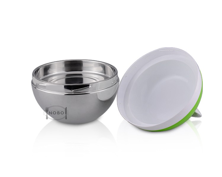 3D sphere dividers 201 stainless steel bento lunch box with plastic lid
