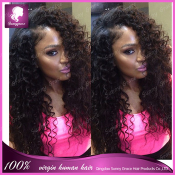 Loose Curl Virgin Human Hair Color 1b Full Lace Wig Lace Front Wig