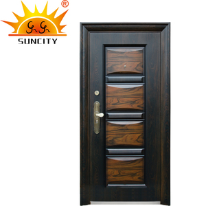 China Manufacturer Nigeria Rubber Seal Single Entrance Security Steel Door