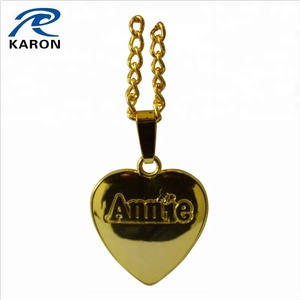 die cast personalized neck pendant with embossed logo