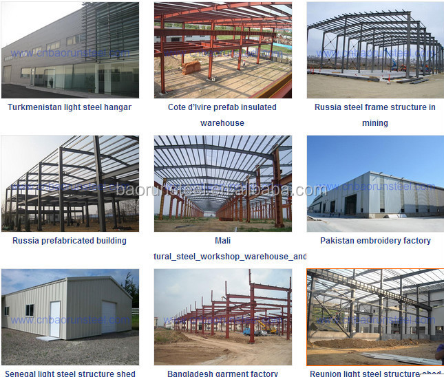 Big building with steel structural fabrication