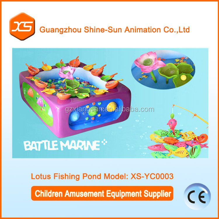Small investment fishing kids play games lotus fiberglass fish pond business ideas new machine for small business