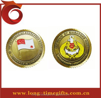 Singapore Navy souvenir coin /Custom sun shaped edge cut coin